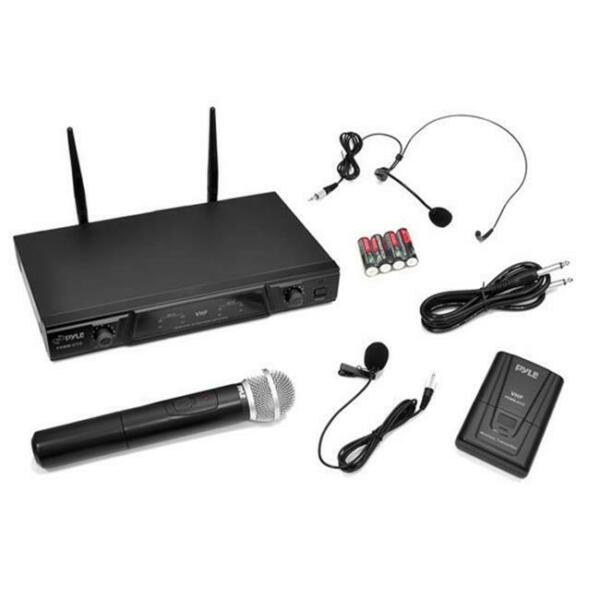 PylePro Frequency Wireless Microphone Receiver System with Volume Control