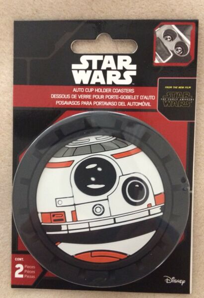 New Disney Star Wars BB-8 Cup Holder Coaster Car Fit 2PC