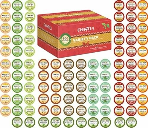 Cha4TEA 100-Count K Cups Tea Variety Sampler Pack for Keurig K-Cup Brewers Pods