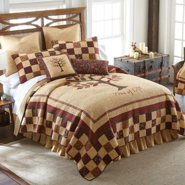 Donna Sharp Autumn Tree of Life Quilt Rustic Lodge Cabin ** KING ** 3-Piece Set