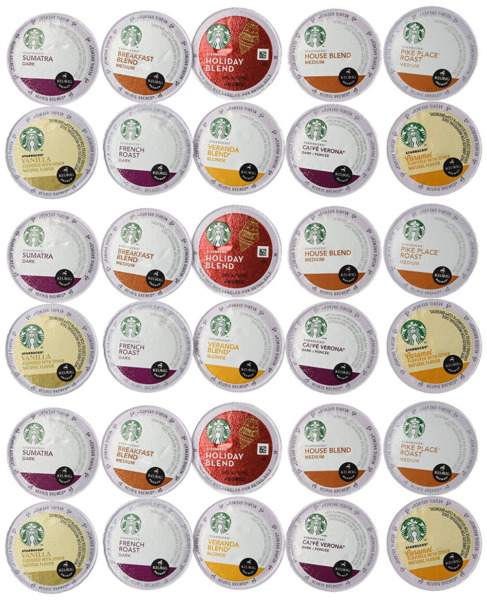 30 Count - Variety Pack of Starbucks Coffee K-Cups for All Keurig K Cup Brewers
