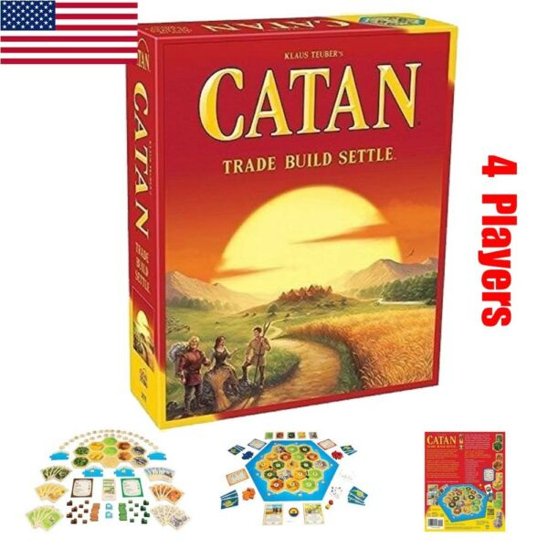 New Settlers of Catan Board Game Party Home Game Gift Toy 5th Edition 4 Player