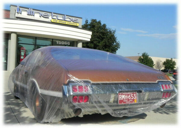 2 PACK Clear Plastic Temporary Universal Disposable Car Cover Rain Dust Garage $22.45