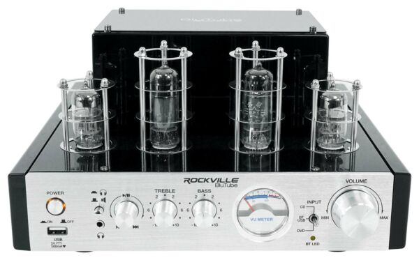 Rockville BluTube 70w Tube Amplifier/Home Theater Stereo Receiver w/ Bluetooth