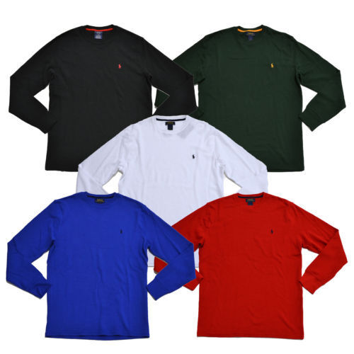 New Mens Ralph Lauren Polo Top Crew Waffle Thermal Top Small Medium Large XL 2XL