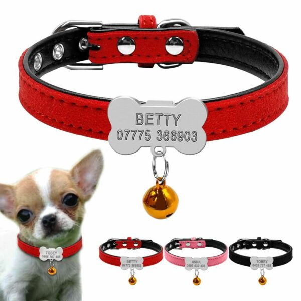 Pet Dog Personalized Collar Engraved Customized Puppy ID Tag AntiLost Collars $12.79