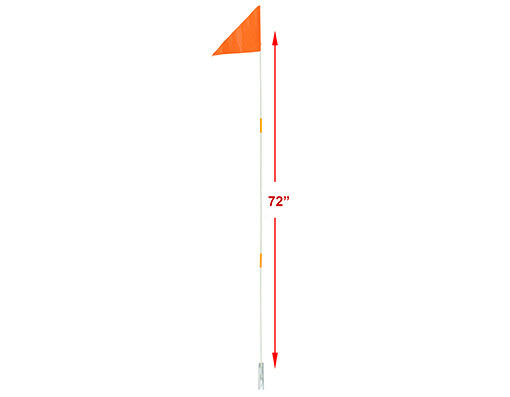 Safety Flag Orange 72quot; Long Pole 3 parts Tricycle Bicycle Trailer Bike New $18.99