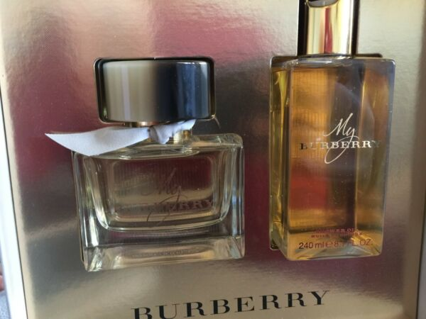 My Burberry gift set 2 pcs 3.0 fl spray 8.1 floz shower oil NEW $85.49