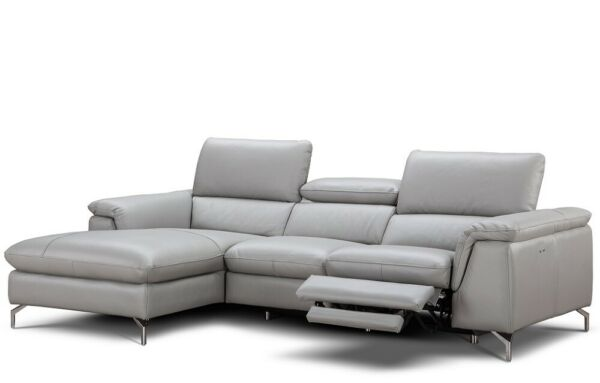 Serena Premium Reclining Leather Left Hand Facing Sectional