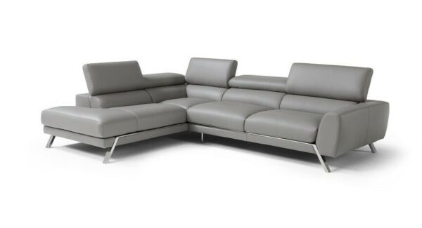 Mood Premium Leather Left Hand Facing Sectional