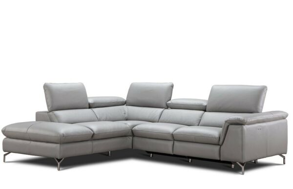 Viola Premium Leather Left Hand Facing Sectional