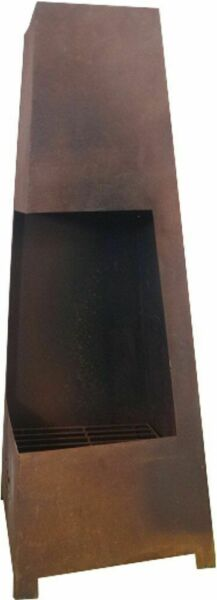 G2152: Fire Fireplace Roland with Grills in Patina Look Garden Fire Place Rusty