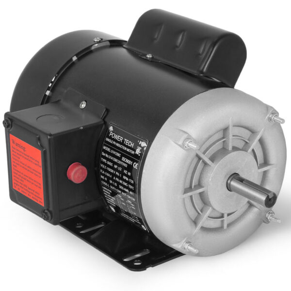 """12 HP Electric Motor 1 ph 1750rpm 58""""shaft keyed shaft agricultural Waterproof"""