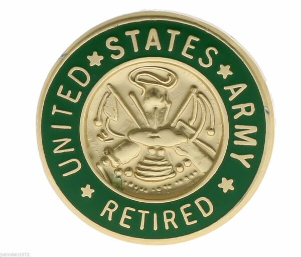 US Army Retired small Hat or Lapel Collectors Pin H14376D3