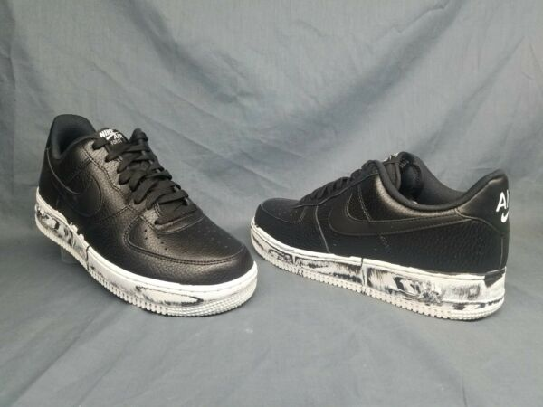 Nike Men's Air Force 1 '07 LV8 Leather Fashion Sneakers Black Size 10 NWOB!