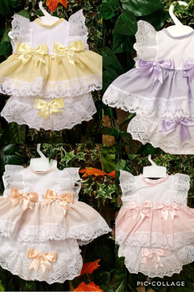 DREAM 0-5 YEARS BABY SUMMER BOWS TOP AND  KNICKERS SET 6 COLOURS OR REBORN DOLLS