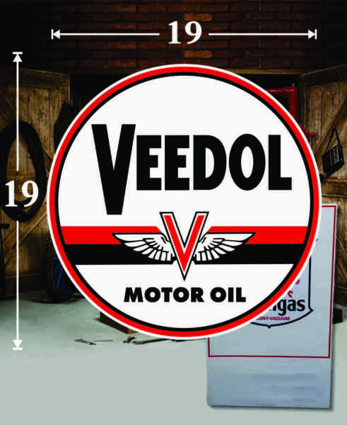 19quot; X 19quot; VEEDOL GAS PA OIL VINYL DECAL LUBESTER OIL PUMP CAN LUBSTER $44.95
