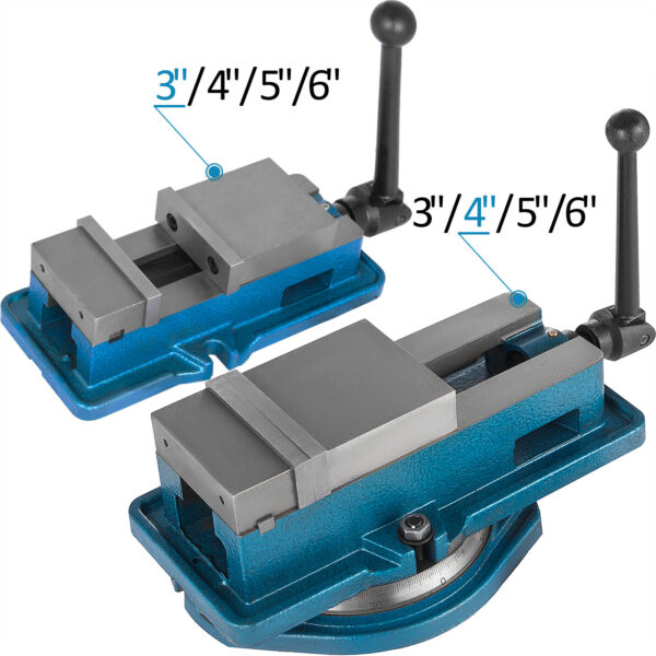 3-6'' Bench Clamp Lock Vise withwithout 360℃ Swivel Base Milling Machine