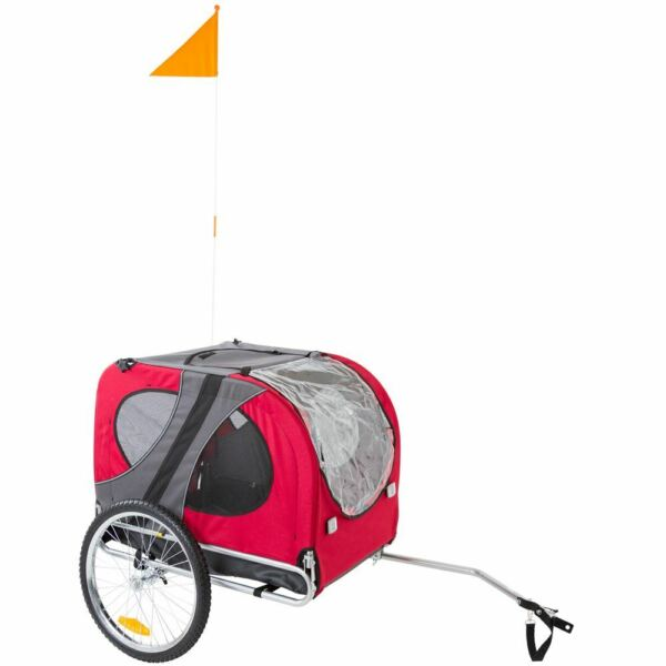 Red Pet Carrier Dog Bike Bicycle Trailer Enclosed $159.99