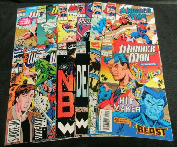 Wonder Man #1-10 + Annual #1 & 2 (1991-1993) Set Marvel Comics NM 9.0-9.4 N197