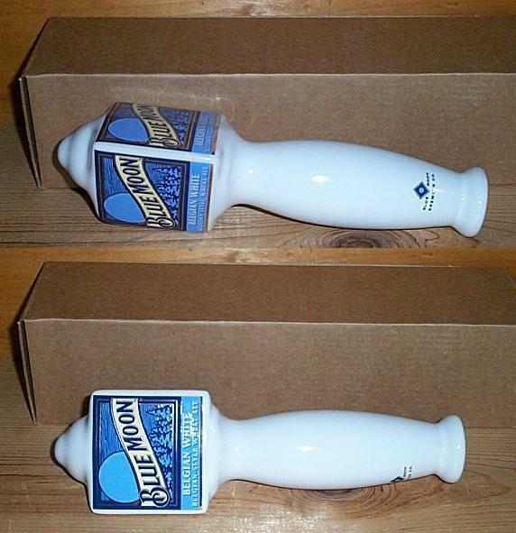 BLUE MOON BREWERY LARGE CERAMIC BEER TAP HANDLE KEG MARKER NEW