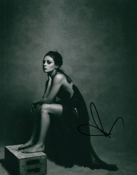 Mila Kunis Sexy In A Dress Actress B&W Signed 8x10 Autographed Photo COA Proof 2