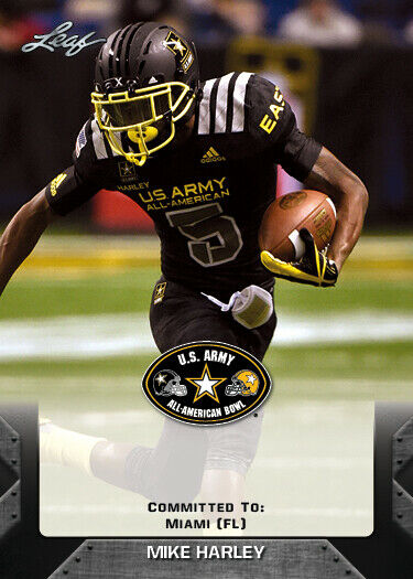 10 Ct Lot Mike Harley 2017 Leaf US Army All American Rookies RCs Miami FL $6.95
