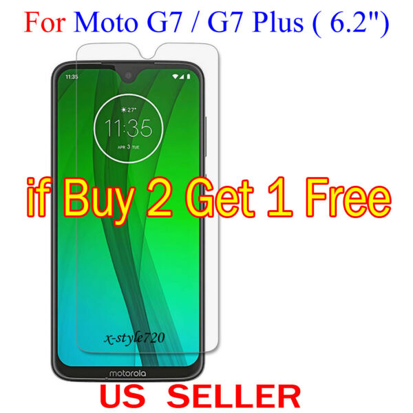 1x Clear LCD Screen Protector Guard Cover Film For Motorola Moto G7G7 Plus 6.2