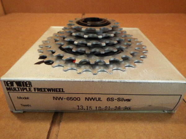 New-Old-Stock Suntour New Winner Ultra 6-Speed Freewheel (13x30) wSilver Finish