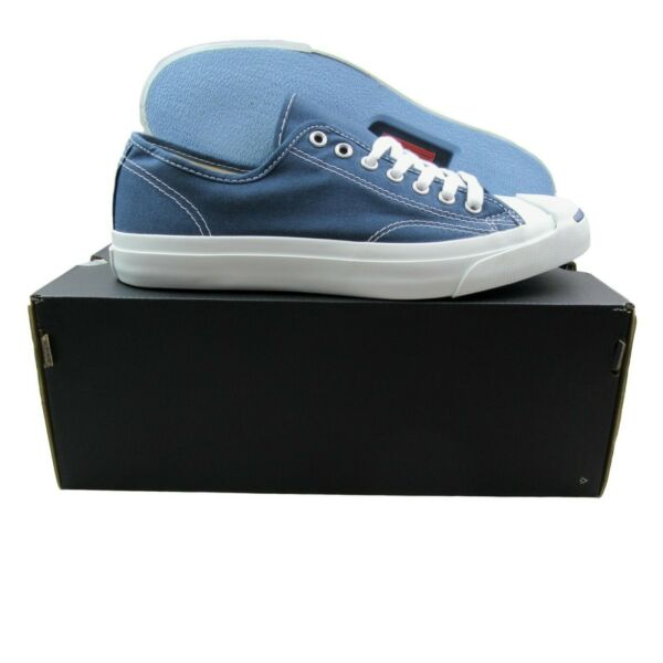 Converse Jack Purcell CP OX Canvas Shoes Size 9 Mens Navy Blue White 1Q811 New