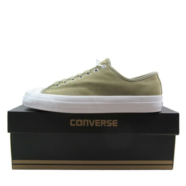 Converse Jack Purcell PRO OX Low Khaki Tan Leather Size 8.5 Mens 157863C New