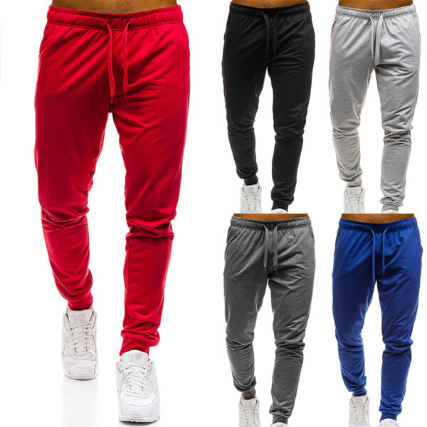 Men#x27;s Track Bottoms Trousers Pants Sports Gym Jogging Joggers Running Sweatpants $21.46