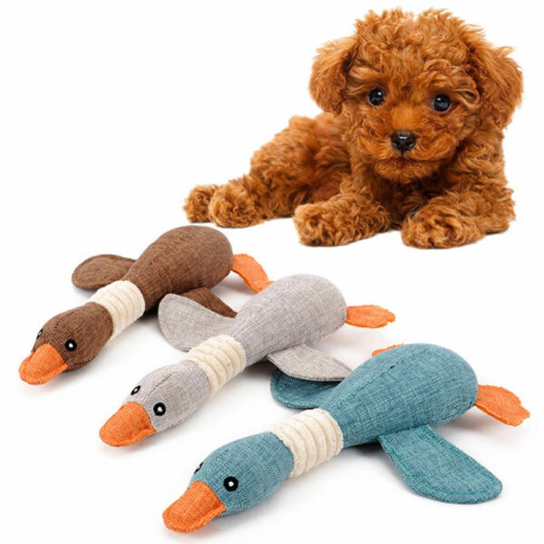 Pet Puppy Chew Squeaker Squeaky Plush Sound Wild Goose Cat Dog Sound Toys Gifts