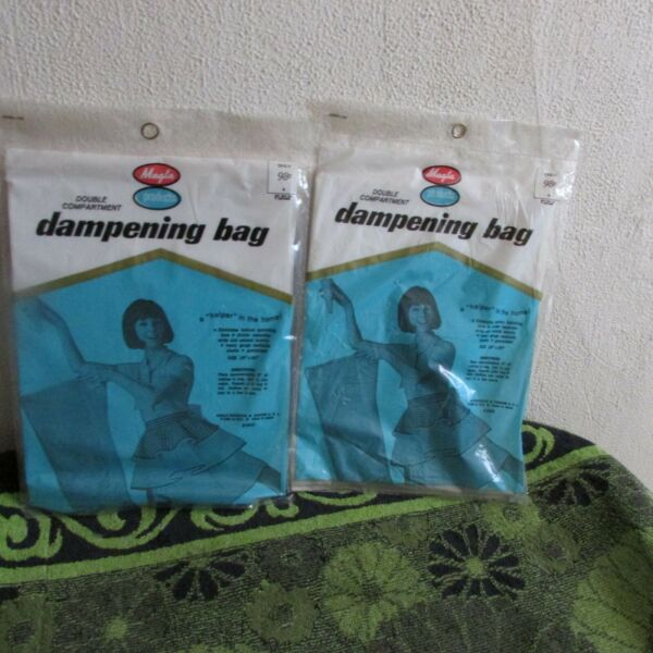 New Set of 2. Vintage 1964 Magla Double Compartment Dampening Bags. 18