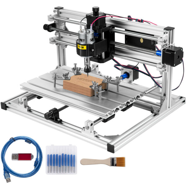 VEVOR CNC 3018 Router Kit 3 Axis Engraving Machine GRBL Control PVC Wood Plastic $145.98