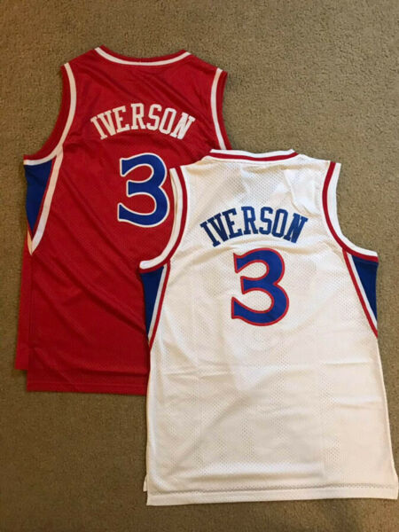 Allen Iverson #3 Philadelphia Sixers 76ers Rookie Throwback Red