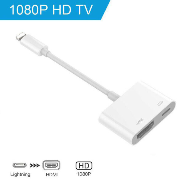 Lightning to HDMI Adapter Cable Digital AV TV For iPhone678 Plus iPad 1080P CN