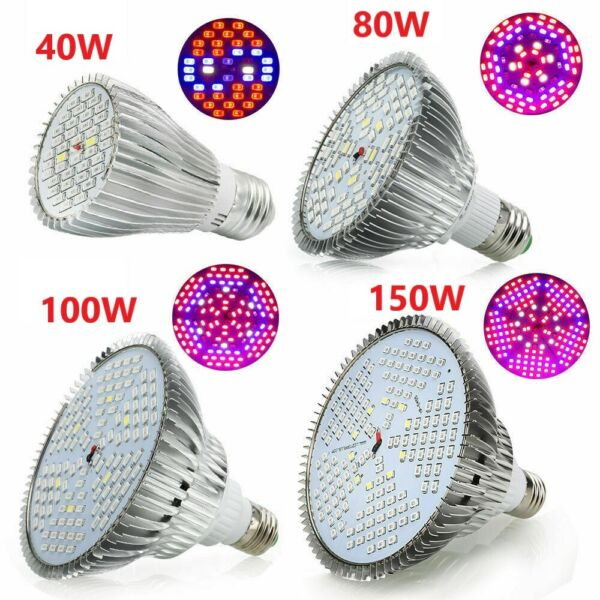 LED Bulb Grow Light E27 40 80 100 150W 5730 SMD Plant Flower Hydroponic Aquarium $23.70