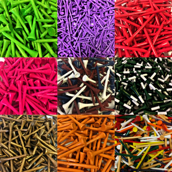 NEW Zero Friction Golf Wood Tees Choose Quantity Color & Length