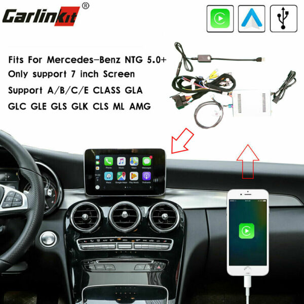 Carlinkit USB Wired CarPlay Mirroring Upgrade Decoder Kit Fit For Benz NTG 5.0+