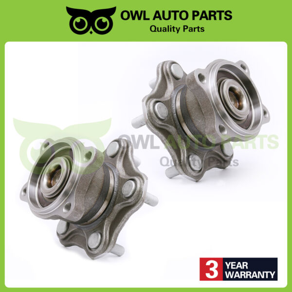 Rear Wheel Hub Bearing Set Pair for 2002-2006 Nissan Altima Quest w ABS 512201