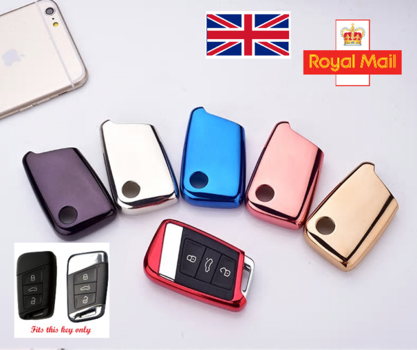 Soft TPU Key Case Cover-Keyless for Skoda Superb III VW Passat B8 Golf