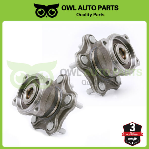 2 Rear Wheel Hub Bearing for Nissan Altima Maxima Quest 5Lug wABS Brakes 512201