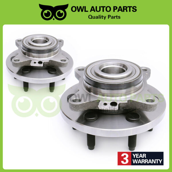 Pair Front Wheel Hub Bearing for 2007-2012 Ford Expedition Navigator 2WD 515094