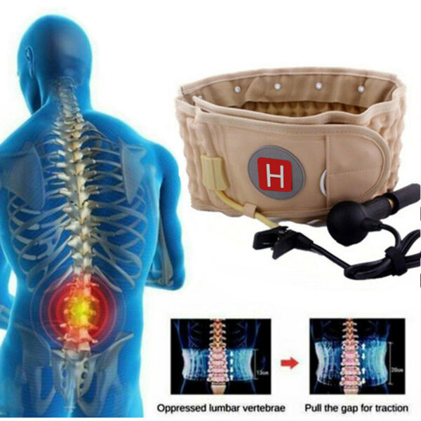 Lumbar Decompression Belt Back Brace Spinal Support Air Traction