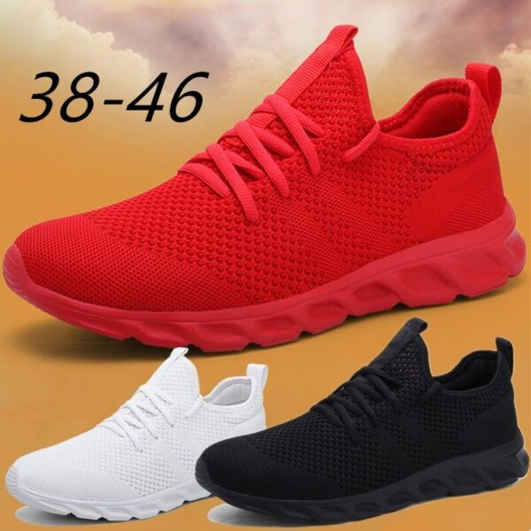 Mens Fashion Lightweight Tennis Shoes Casual Running Jogging Sneakers Breathable