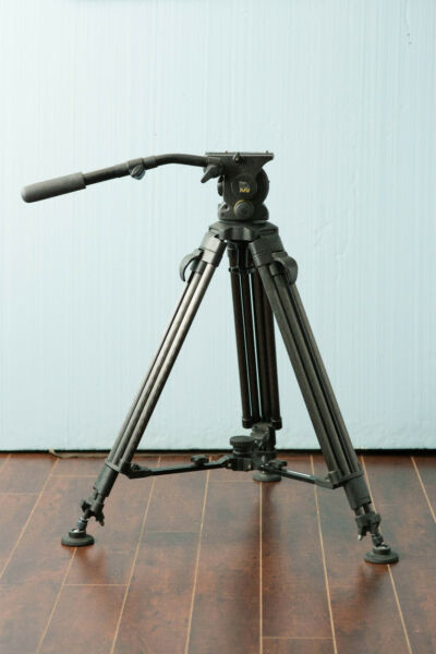 Vinten Vision 100 Fluid Head and Cartoni Carbon Fiber 2 Stage Tripod Legs