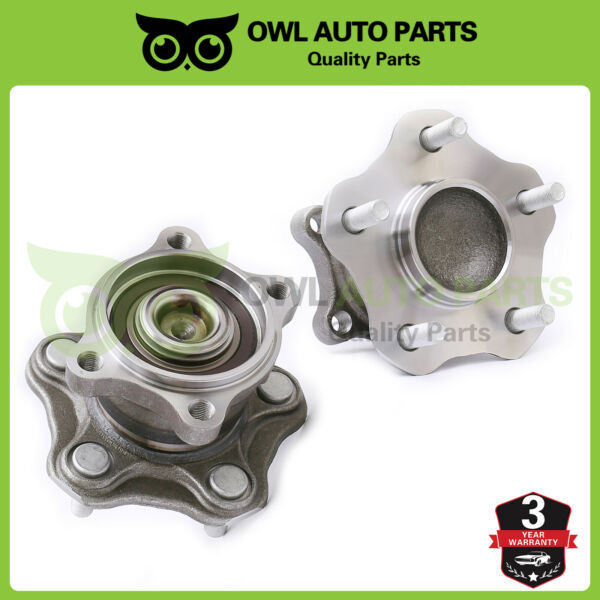 Rear Wheel Hub & Bearing Assembly Set Pair for Nissan Altima Quest wABS 512201