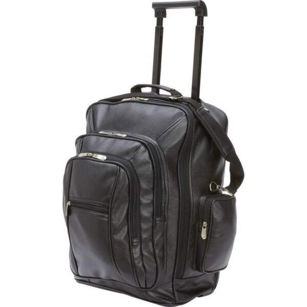 Embassy™ Leatherette Rolling TrolleyBackpack