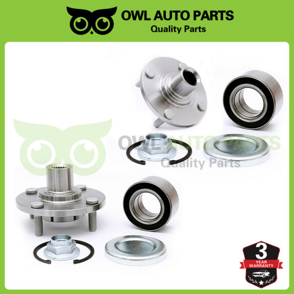 Front Wheel Hub Bearing Kit Left or Right Driver for 00-11 Ford Focus 518510K X2